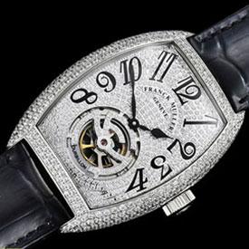 フランク・ミュラー 最高級コピー時計 ブラック・クロコ21600振動 (自動巻き)